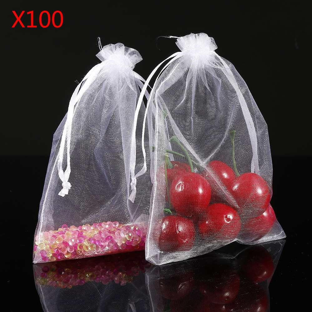 100pcs 10cm X 15cm Gift Bags Candy Bags Wedding Favors Portable Gift