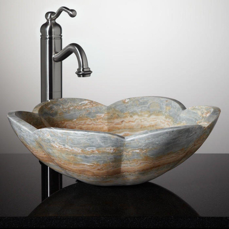 Fontus Blue Onyx Flower Vessel Sink | Ideas for the House ...