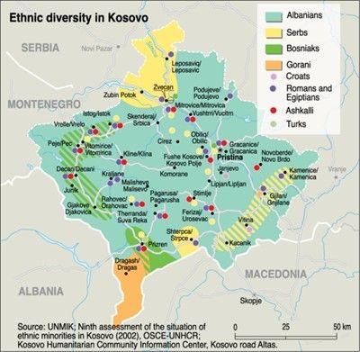 Europe Map Kosovo