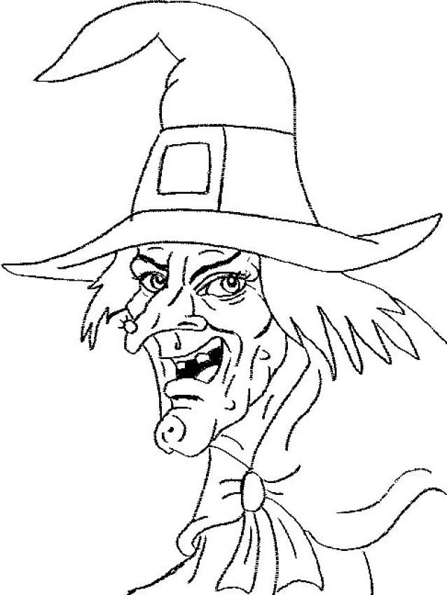 Witch Face Drawing Google Search Witch Coloring Pages