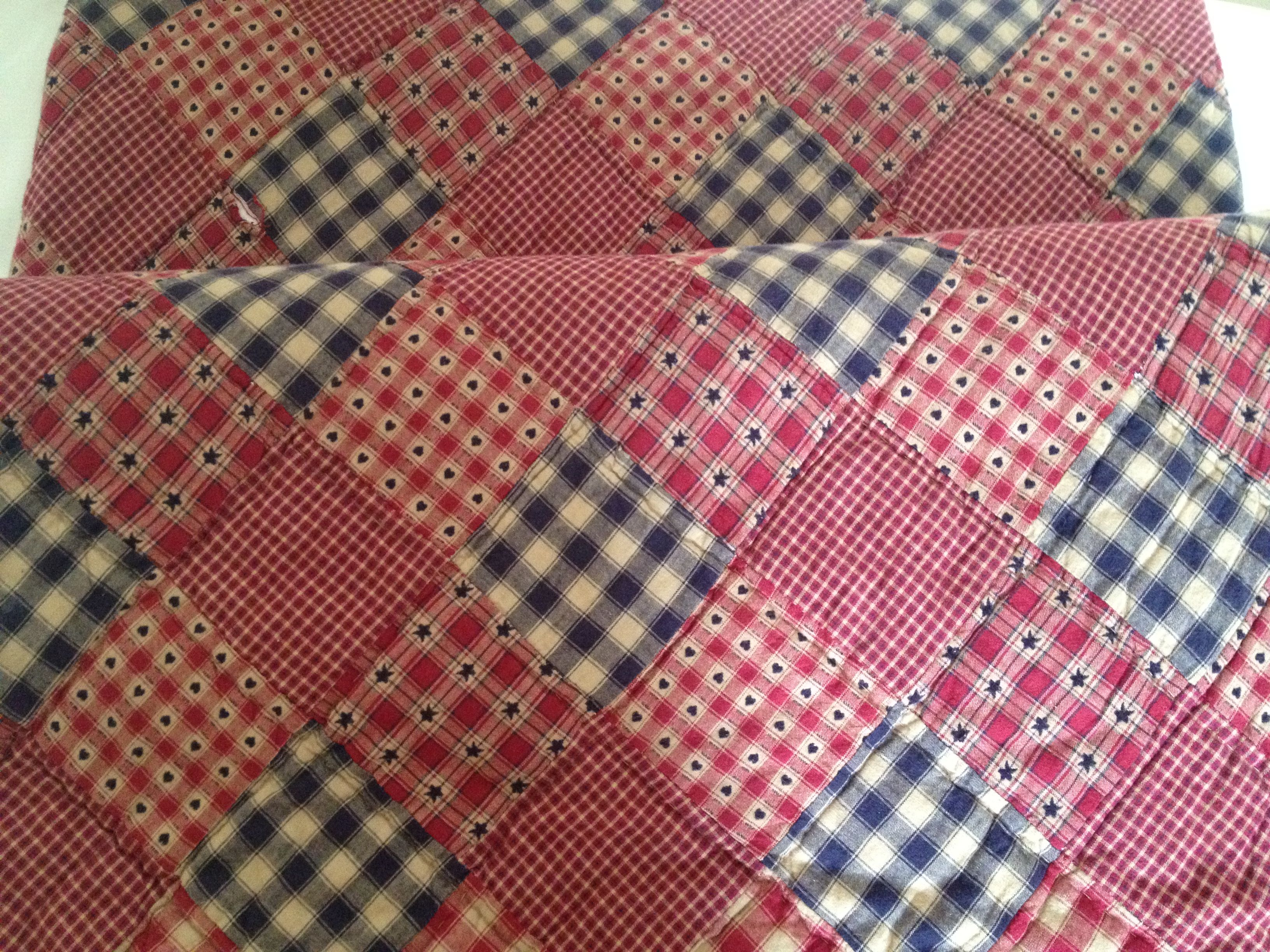 Red, white and blue quilt 1