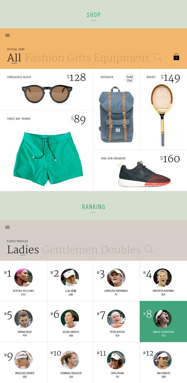 Wimbledon iPad App on App Design Served