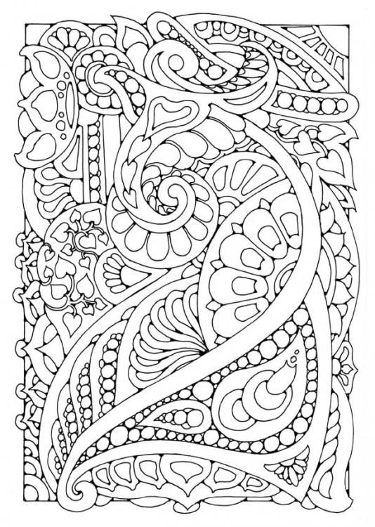 doodle coloring page | Mandalas and Colouring Pages | Pinterest ...