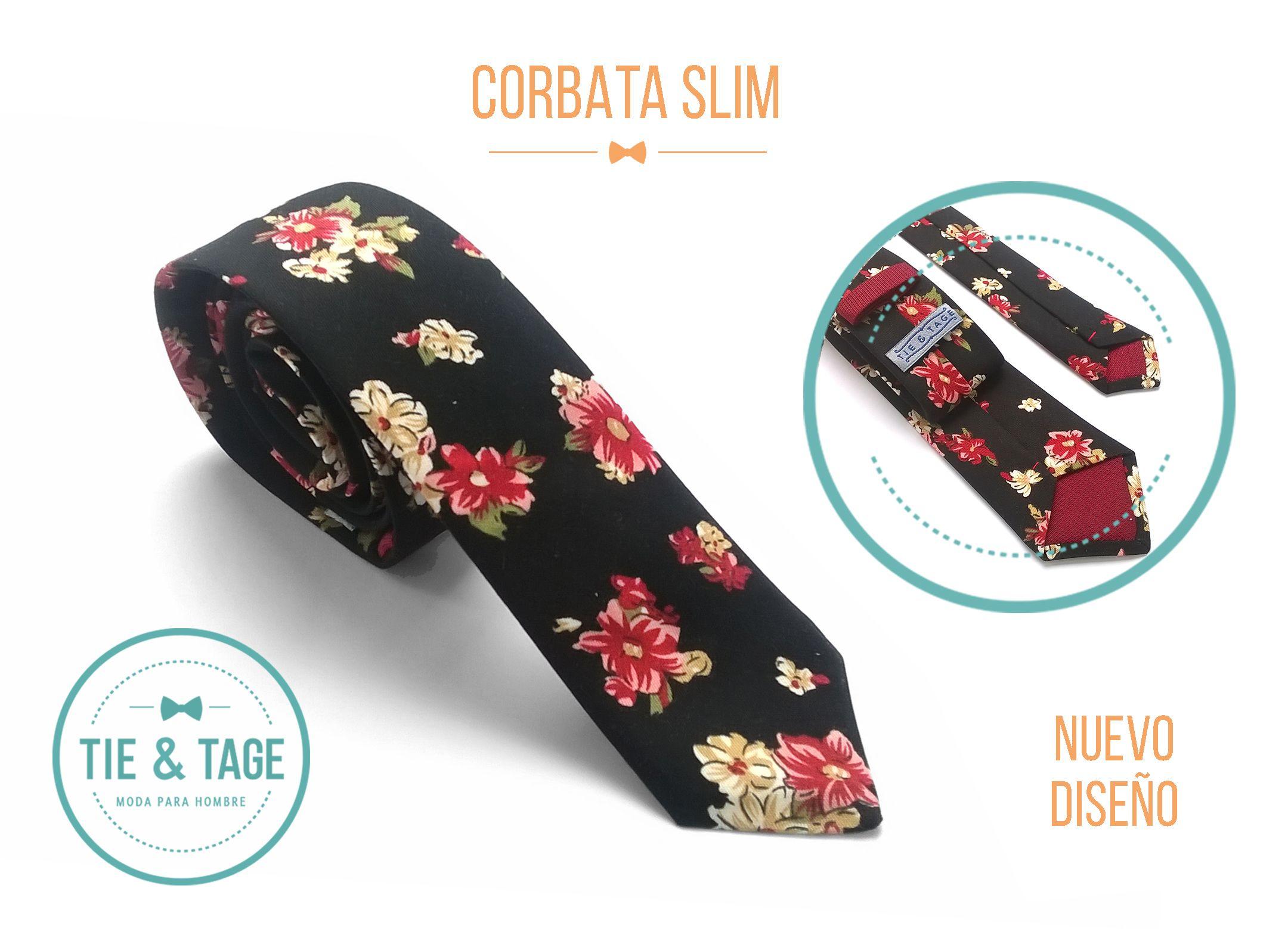 moda más deseable hermosa y encantadora zapatos para baratas Corbata #Slim #Necktie #Faleno #Floreada #Negra hecha a mano ...