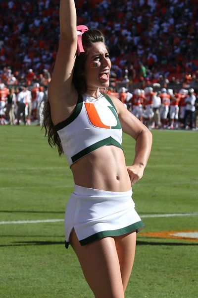 Image result for miami hurricanes football cheerleaders