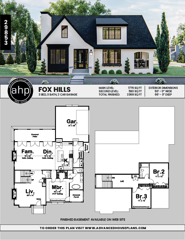1 5 Story Modern Cottage Style Plan Fox Hills Modern Cottage Style Sims House Plans Modern Cottage