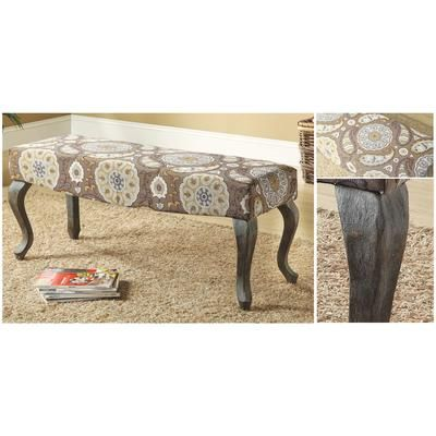 Enjoyable Worldwide Homefurnishings Inc Morocco Bench Weathered Pabps2019 Chair Design Images Pabps2019Com