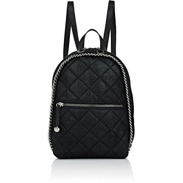 Stella McCartney Women's Falabella Shaggy Deer Mini-Rucksack ($1,040) ❤ liked on Polyvore featuring bags, backpacks, black, mini backpack, rucksack bags, backpack bags, stella mccartney backpack and hardware bag