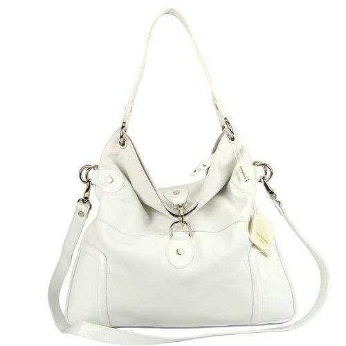 575.00 CAVALCANTI Italian White Calf Leather Designer Shoulder Bag -  Cavalcanti brand name is synonymous with fb62dc04536ff