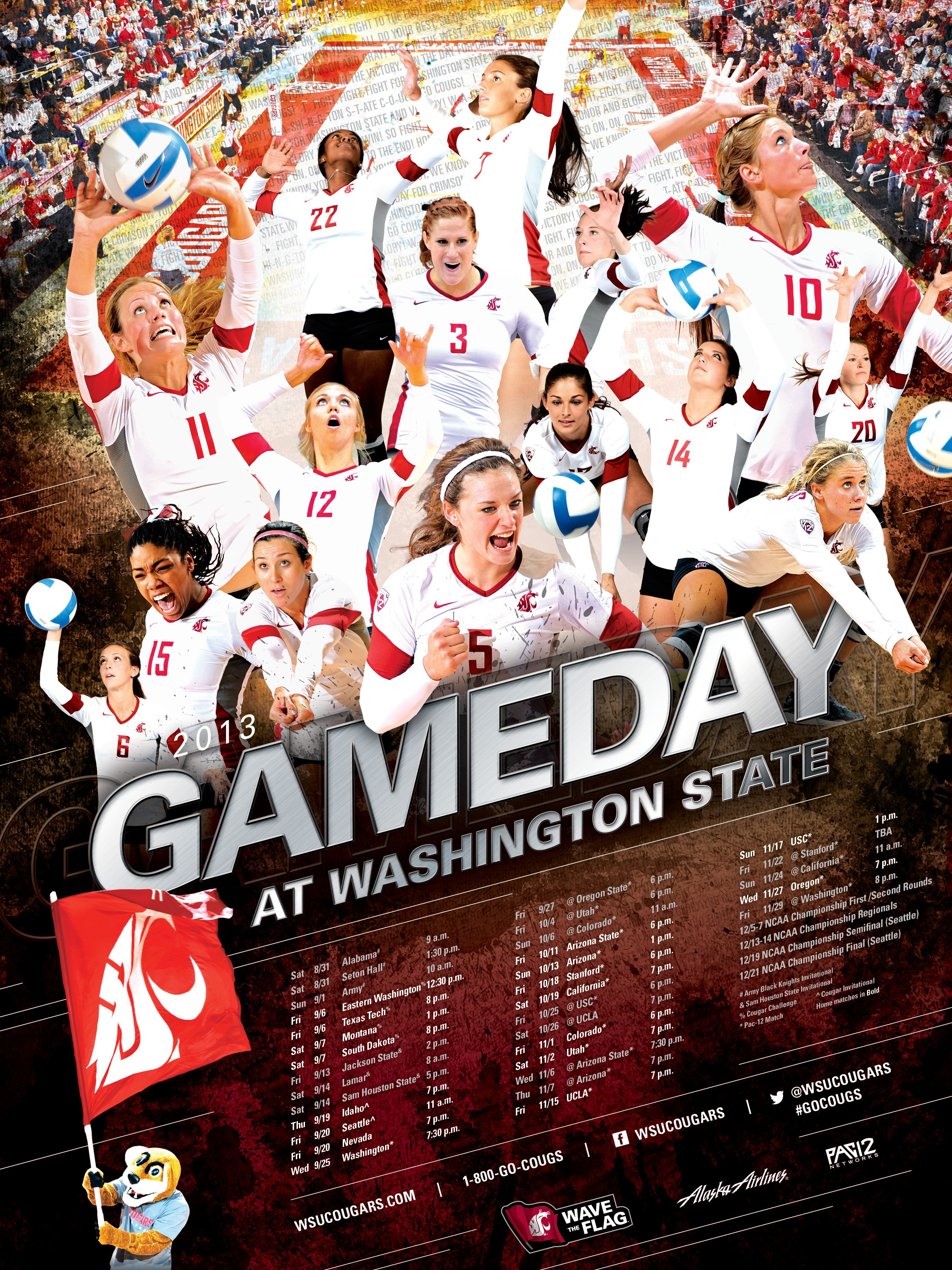 Wsu Athletics Posters Washington State University Athletics Volleyball Posters High School Sports Posters Sport Poster