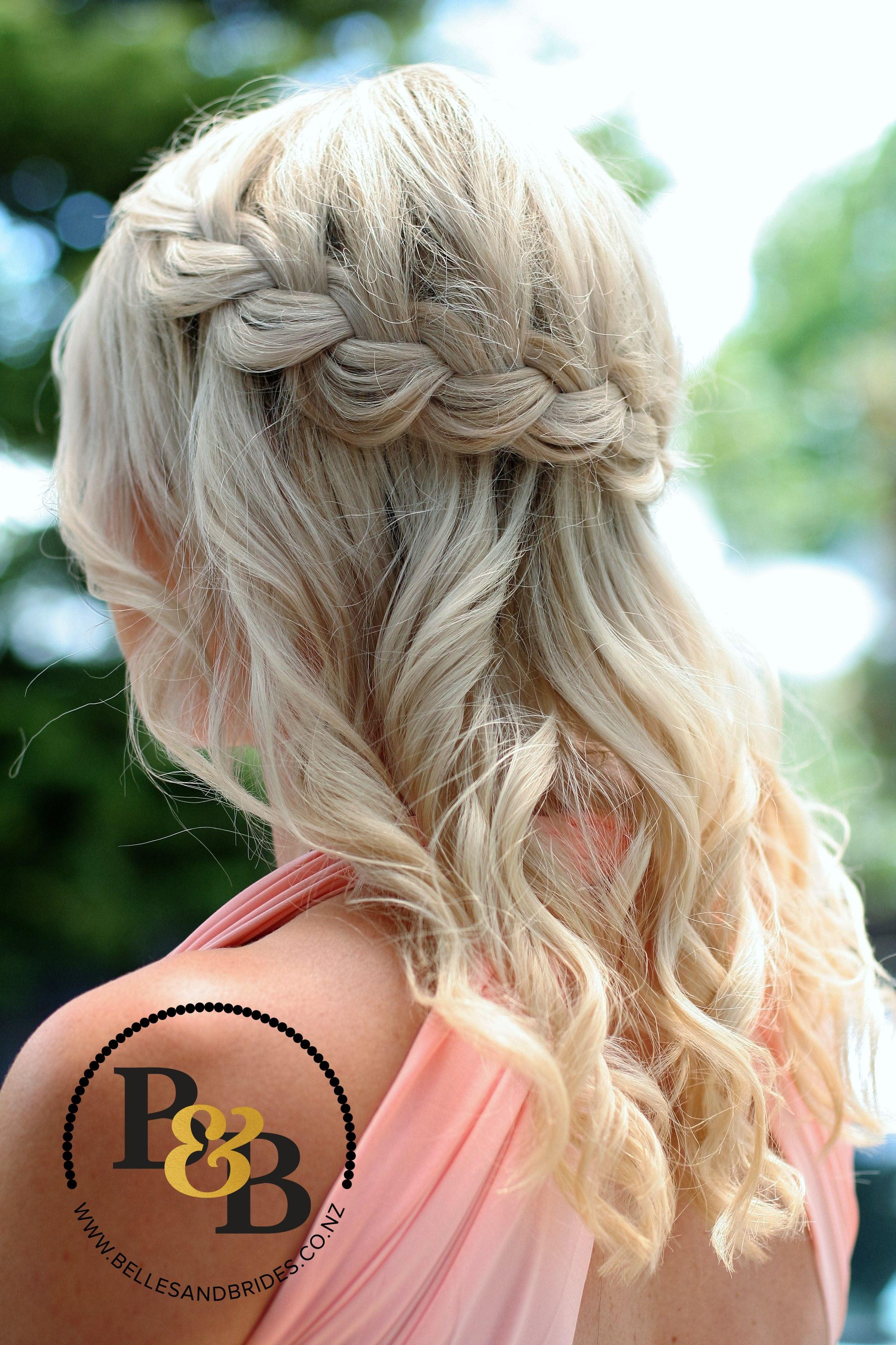 wedding hair / down style / hair down with braid / bridal