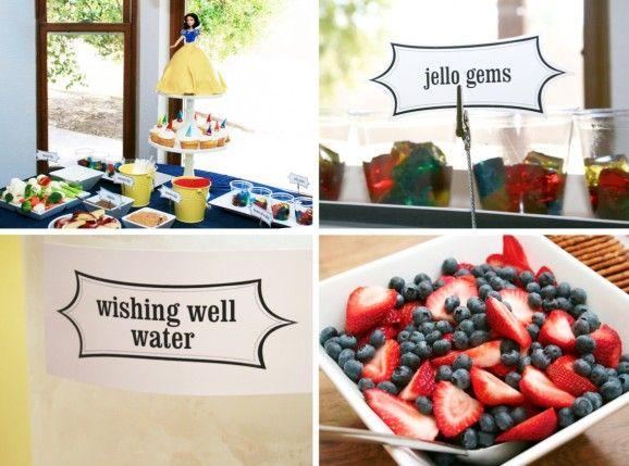 Snow White Birthday Party Fun Food Ideas SnowWhite PartyFood