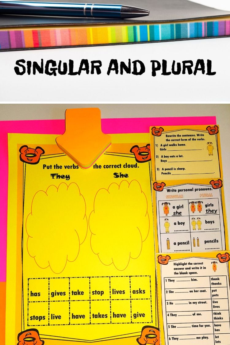 Singular And Plural Subject And Verb Subject Verb Agreement Personal Pronouns [ 1125 x 750 Pixel ]