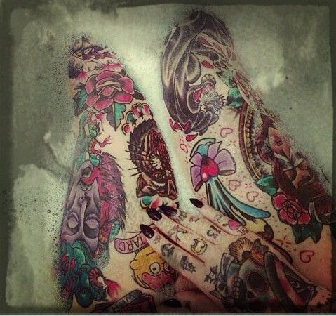 #Wholeinked legs #tattoolegs Dohhh whateva u can find!
