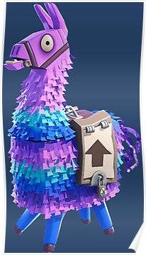 Fortnite Llama Pinata Poster | Pinata, Epic games fortnite ...