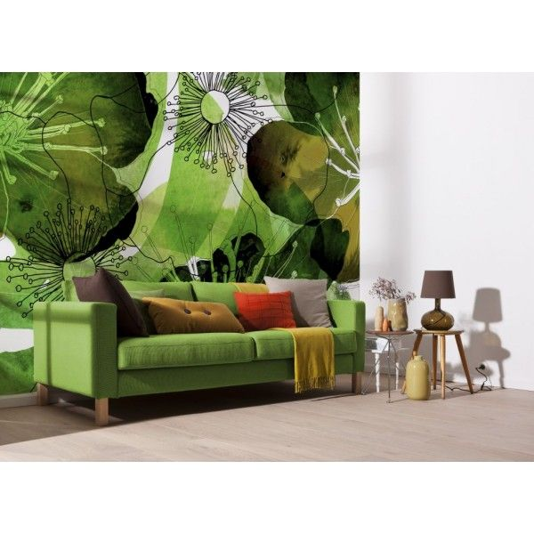 verdure panoramique komar photo murale papier peint xxl et papier peint original. Black Bedroom Furniture Sets. Home Design Ideas