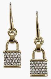 Michael Kors Pavé Padlock Drop Earrings
