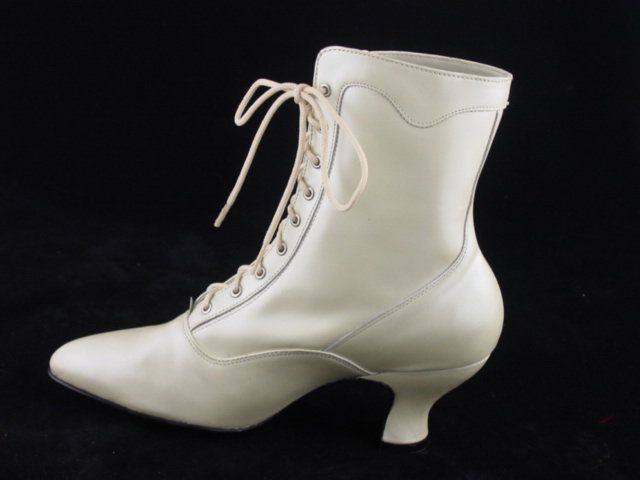ivory victorian old west style wedding granny boots size 6 or 7 5 Wedding Granny Boots ivory victorian old west style wedding granny boots size 6 or 7 5 only ebay wedding granny boots