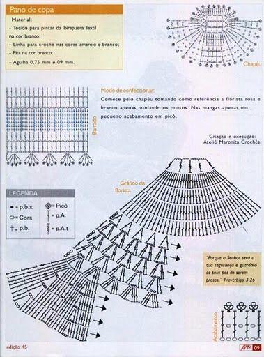 379x512, 76Kb)   Crochet Doilies   Pinterest   Muñecas, Vestiditos y ...
