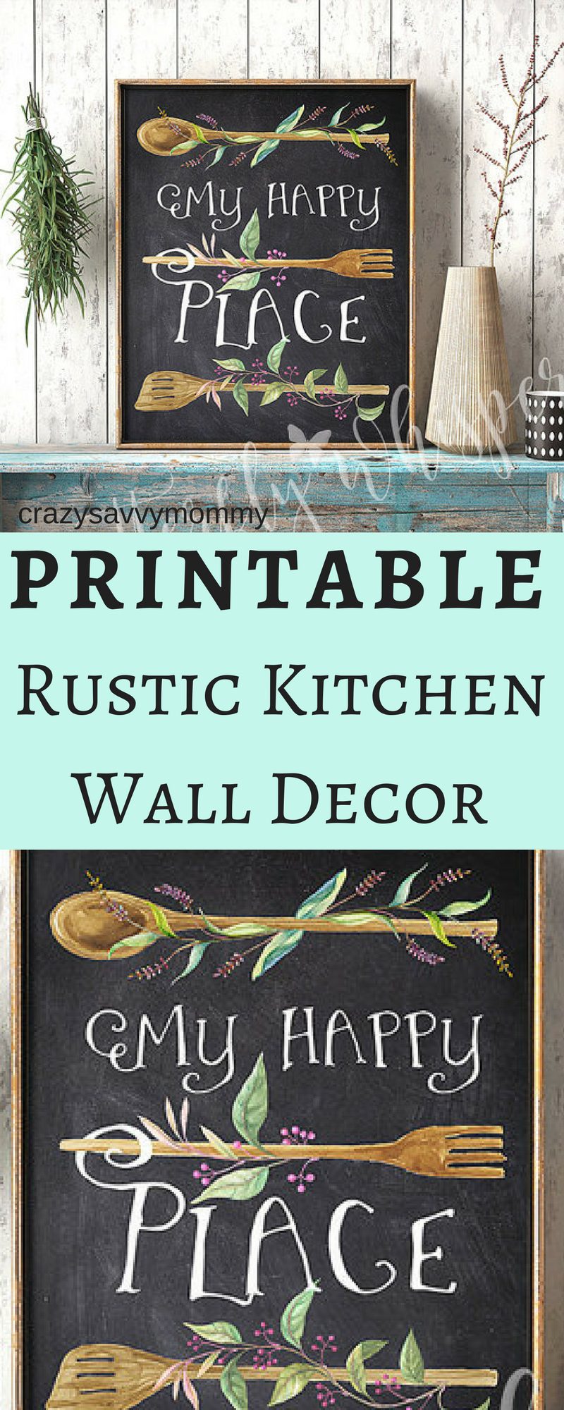 ONLY $5.00!! PRINTABLE Rustic Kitchen Wall Decor. SUPER CUTE ...