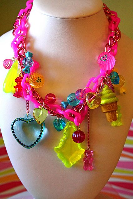 Sugar Shock Candy Drops and Gummi Bears Necklace by athinalabella1, via Flickr