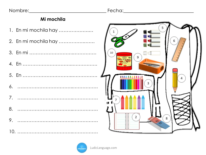 Spanish School Supplies In