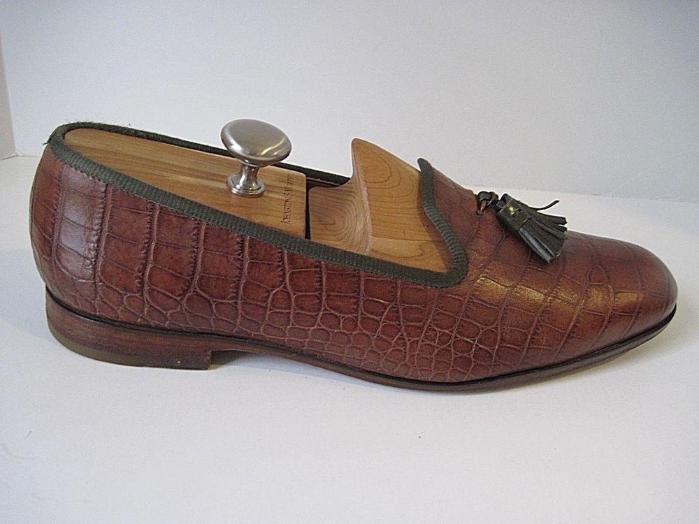 4c645152c20 Mens Cole Haan CH Bespoke Alligator Crocodile Print Tassel Loafers Shoes 11  M  ColeHaan  LoafersSlipOns  Dress