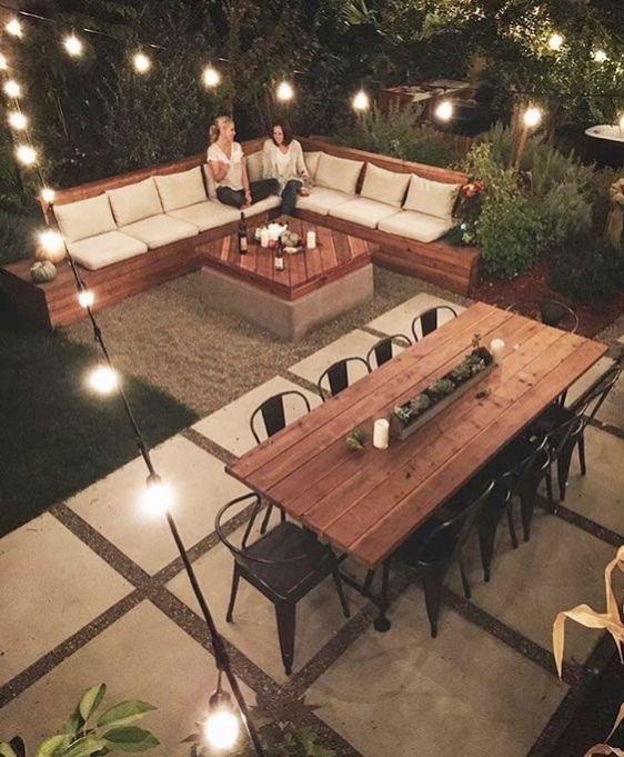 Striking patio decor backyard #outdoor #backyard #backyardlandscaping #backyardgarden #smallbackyard