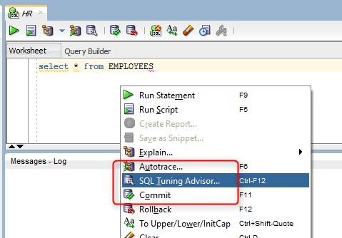 How To Run Sql Tuning Advisor In Sql Developer  Sql Commands And Ibm