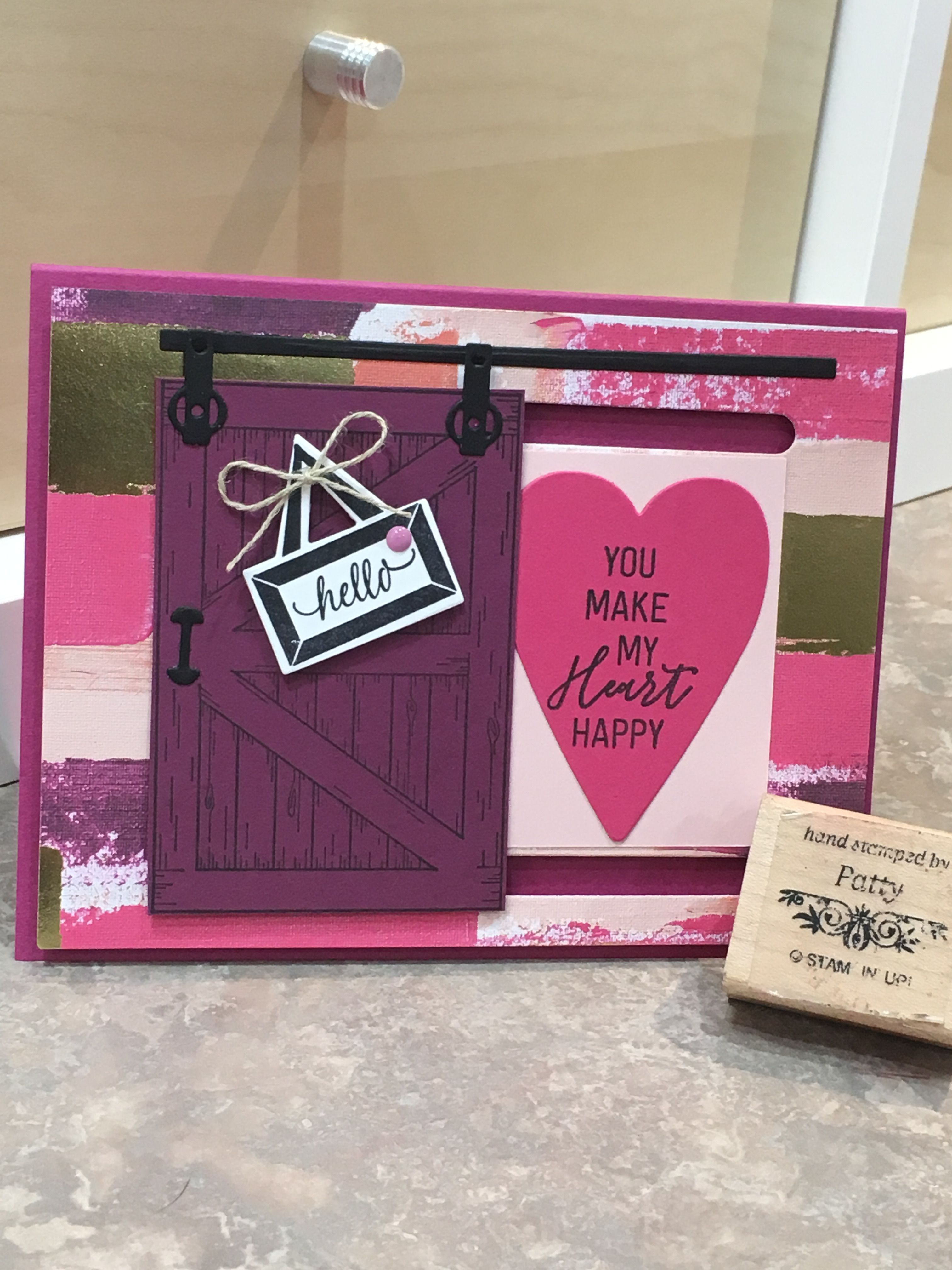 Stampin' Up! Painted with DSP, Sure Do You stamp set, Barn ... on