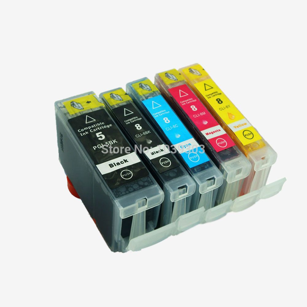 5PK Compatible Ink Cartridge for Canon PGI 5 CLI 8 Printer Cartridge For PIXMA iP4200 iP3300 iP3500 iP4300 ink for canon printer #Affiliate