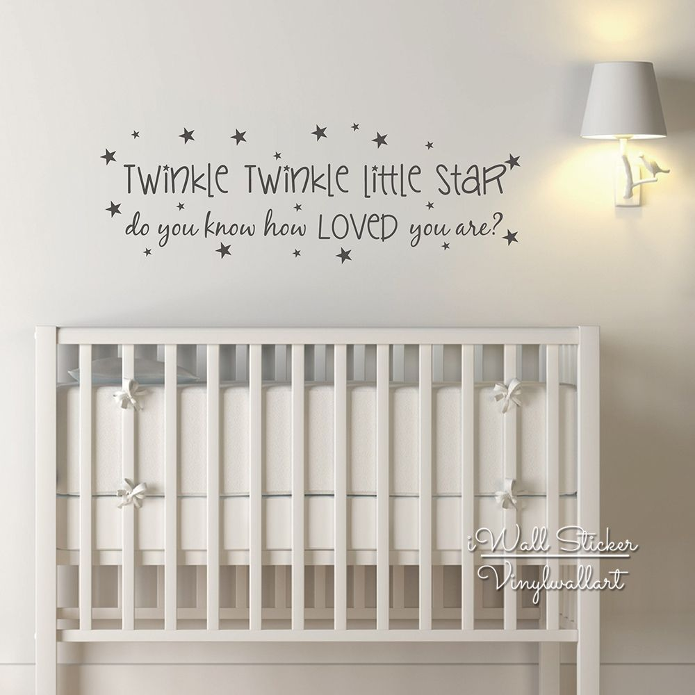 Baby Nursery Quote Wall Sticker Le Little Star Decal Kids Room Quotes From Iwall At Aliexpress