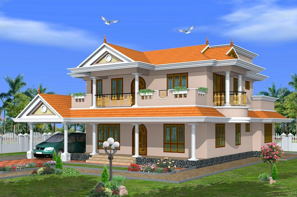 Kerala home design in traditional style dream home for Conventional style home