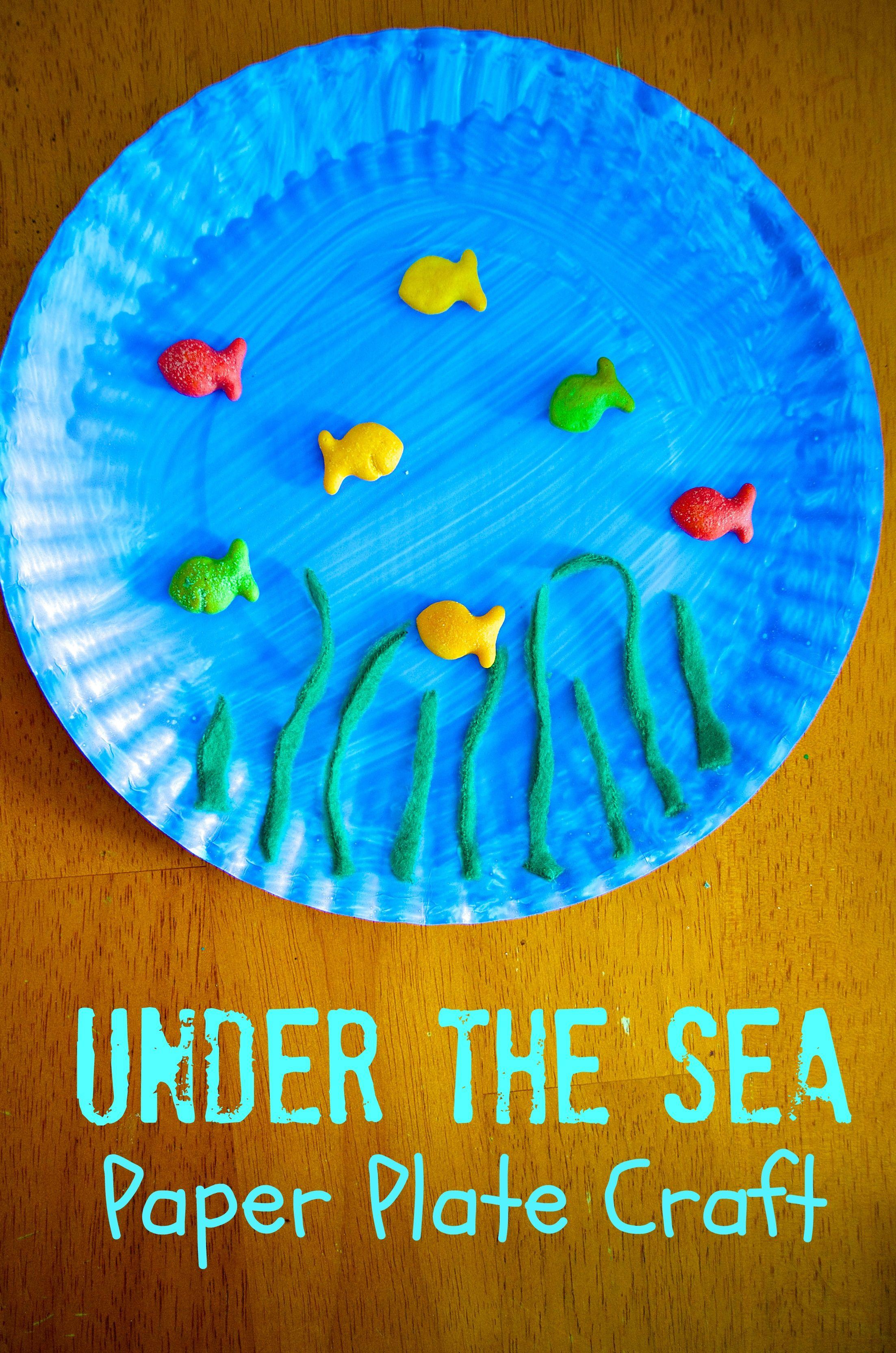 Under The Sea Ocean Paper Plate Craft For Preschool Kids
