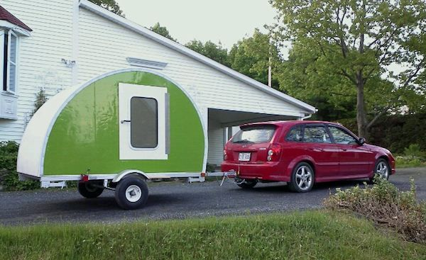 How To Build Your Own Ultra Lightweight Micro Camper Teardrop Trailer Micro Camper Teardrop Camper Mini Camper