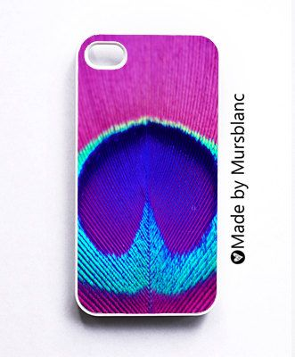 Iphone 4 Case Peacock Peacock FeatherPinkblue by HipsterCases. $28.00, via Etsy.