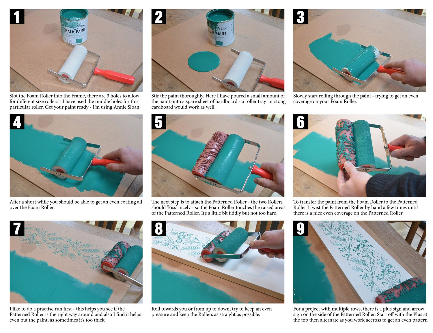 Pattern Paint Roller this is how dovetails use a patterned painted roller with florence