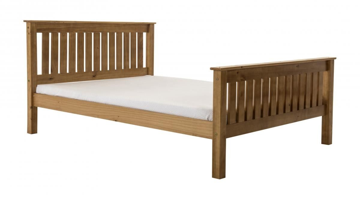 Manila Pine Single Bed With High Foot End Pine Single Bed Bed