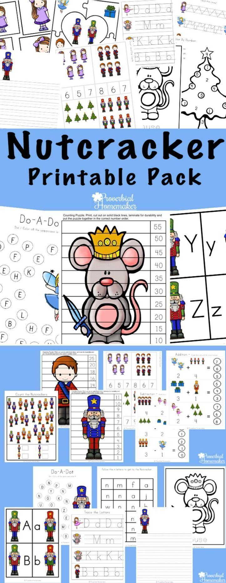 Nutcracker Printable Pack | Preschool printables ...