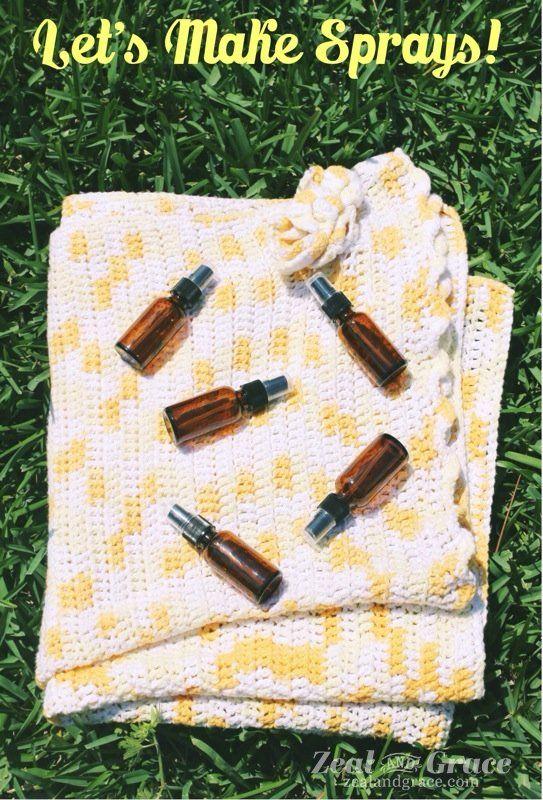 More than 10 essential oil spray recipes