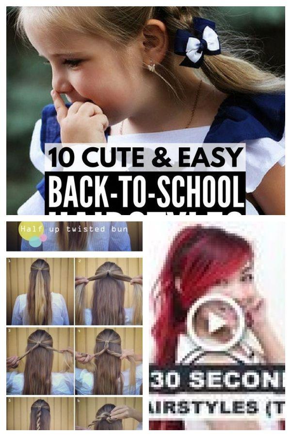 Diese schnellen, einfachen Frisuren sind wirklich wunderschön. #quickeasyhairstyles, #beauti …