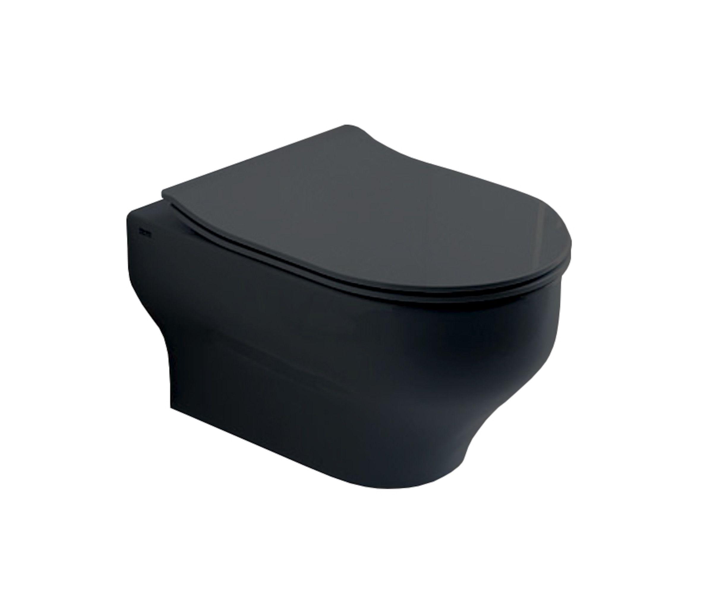 Photo of Vegghengt toalett, med toalettsete -Svart matt -Flisekompaniet.no