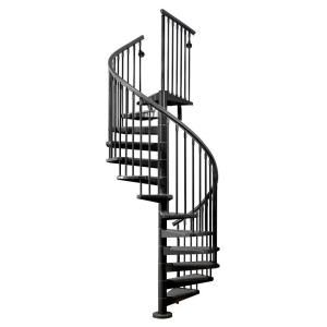 Arke Eureka Spiral Staircase Kit 5 Ft 3 In Black K21009 At The