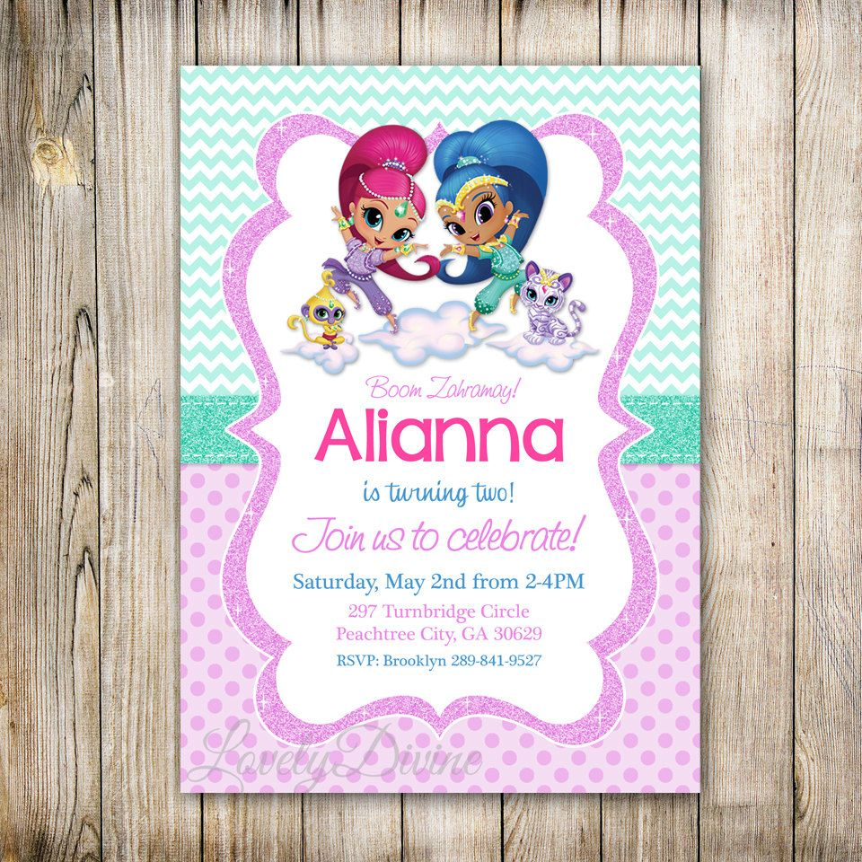 Shimmer and Shine Birthday . | Shimmer and Shine printables | Pinterest