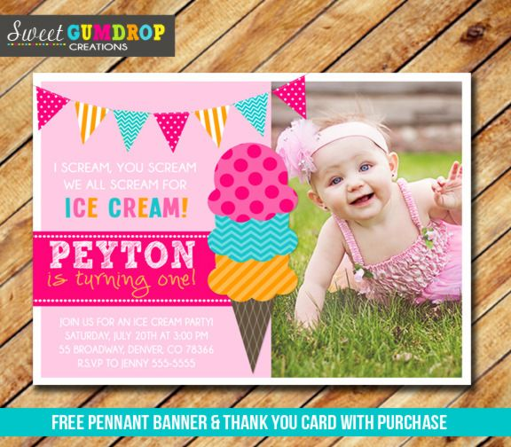 Printable girl ice cream birthday invitation sundae party girls printable girl ice cream birthday invitation sundae party girls 1st birthday party free stopboris Images