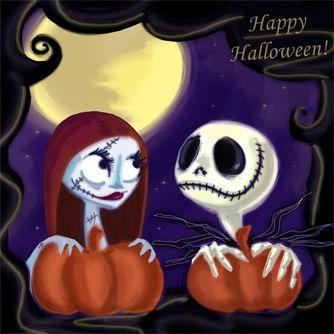 Jack n Sally Happy Halloween by Lilostitchfan on deviantART |