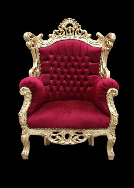 Throne Chair In Red Gold Fancy Chair Throne Chair Red Velvet Chair