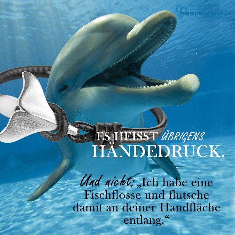 Mini Delfinanh/änger aus 925 Sterlingsilber Heartbreaker Delfin Anh/änger in Echtsilber Kollektion Delfin Niedlicher Anh/änger f/ür Damen