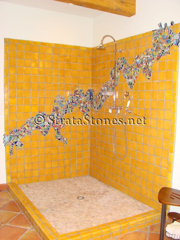 for the kids bathroom: under the sea theme mosaic tile shower ...