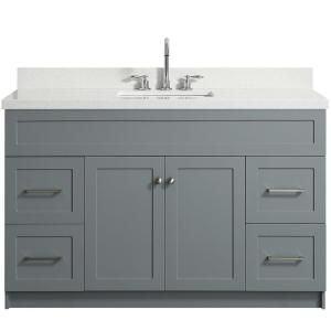 Ariel Kensington 54 In Bath Vanity Cabinet Only In White D055s Bc Wht The Home Depot Bathroom Sink Vanity Single Sink Bathroom Vanity Quartz Vanity Tops